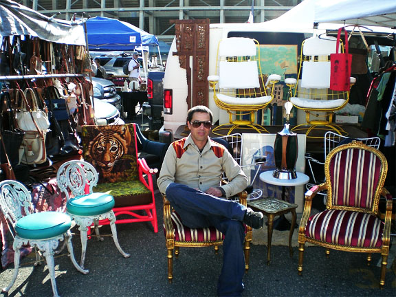 a day at the flea market - Abe's booth