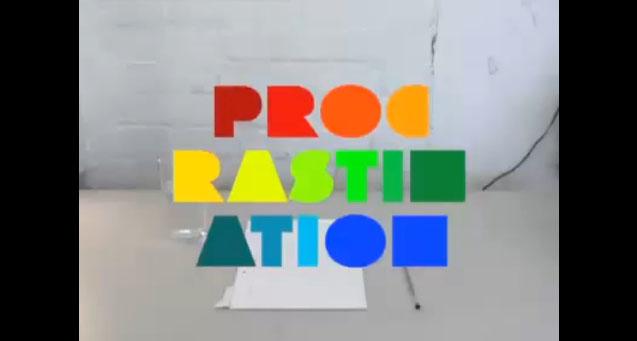 procrastination animation