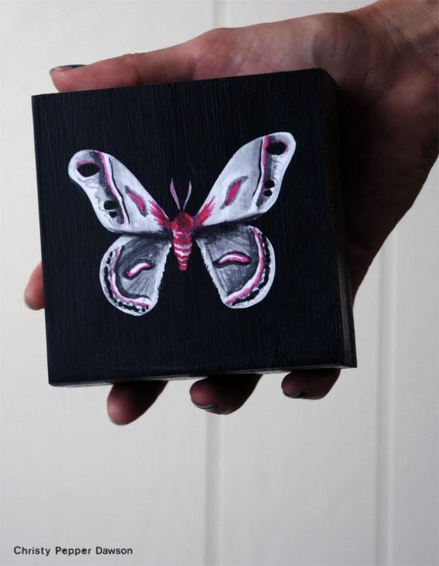 Comic Con Moth by Christy Pepper Dawson