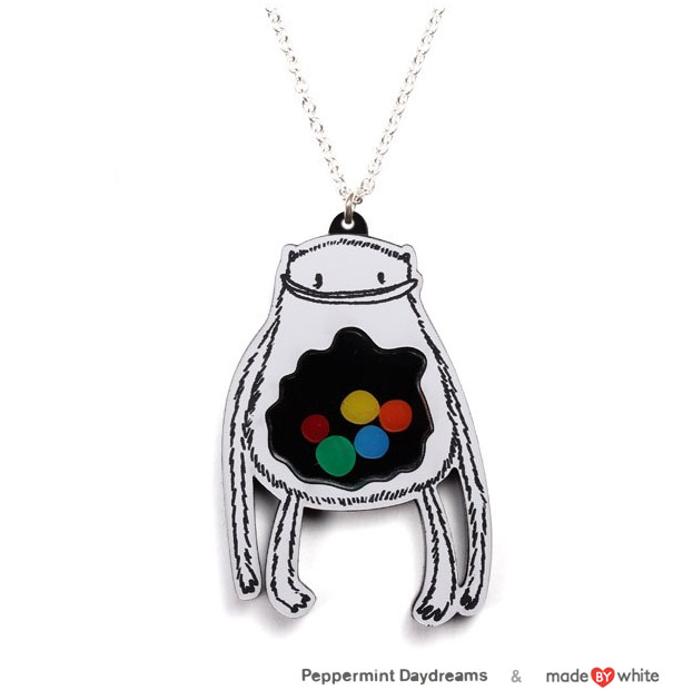 Gumball Monster Necklace by Christy Pepper Dawson & Made by White
