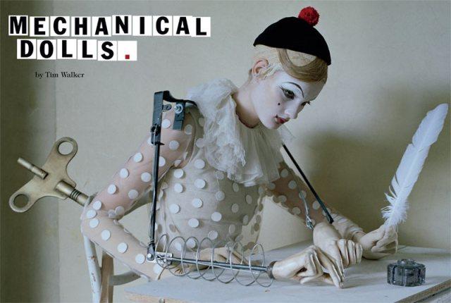 Tim Walker - Vogue Italia October 'Mechanical dolls'