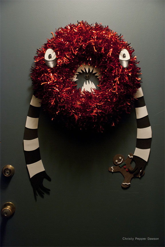 xmas 2011 monster wreath