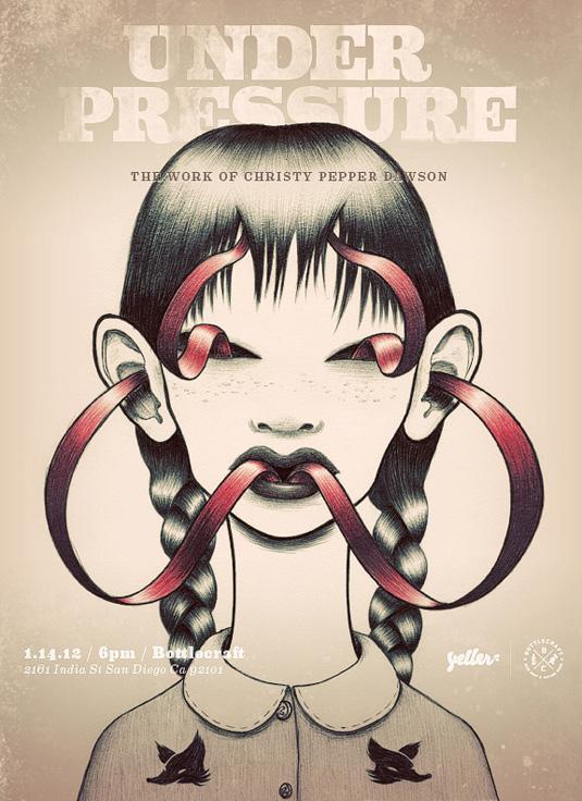 Under Pressure Art Show by Christy Pepper Dawson